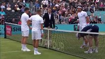Andy Murray looks sharp with Feliciano Lopez in second round doubles at Queen's Club