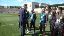 Felipe VI desea suerte a la selección española antes de viajar a Rusia