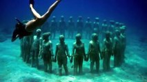 Music Track ~  Bottom of the Sea ~ Dhruva Aliman - Feat. Art by Jason Decaires Taylor