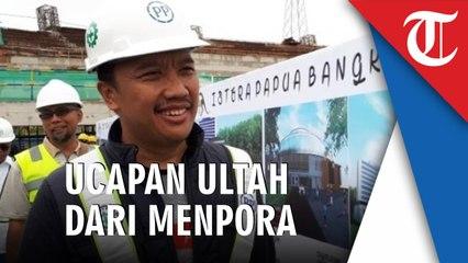 Menpora Ucapkan Selamat Ulang Tahun Untuk Presiden Jokowi Dari Stadion Papua Bangkit