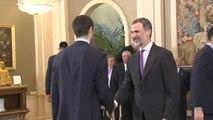 El rey Felipe VI recibe al Real Madrid tras conquistar su décima Euroliga