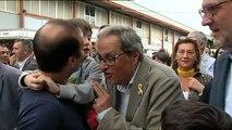 Torra vista a los políticos soberanistas presos en pleno revuelo por la extensión del 155