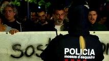 Tensión sin incidentes en Barcelona entre los CDR y los GDR ante la presencia de los Mossos