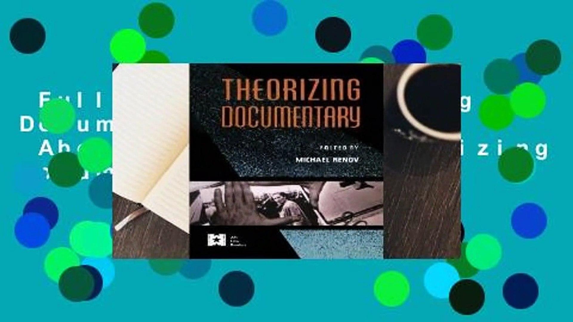 Full E-book  Theorizing Documentary Complete  About For Books  Theorizing Documentary  Review