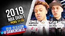 2019 NBA Draft - Picks 11-20 - Cameron Johnson, PJ Washington, Tyler Herro , Romeo Langford