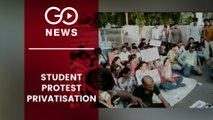 AGRICULTURE STUDENTS PROTEST