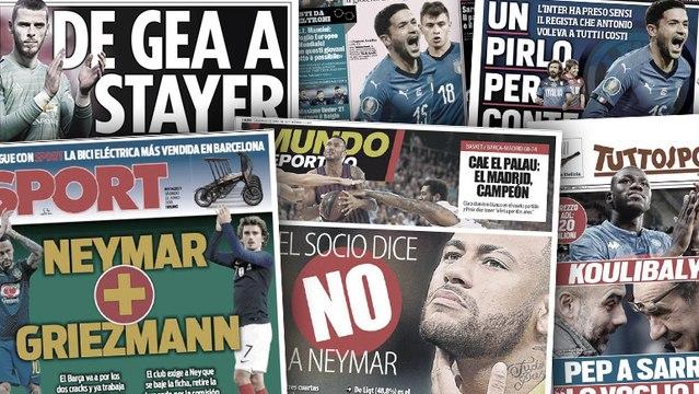 Les socios du Barça ne veulent pas de Neymar, United veut blinder David De Gea