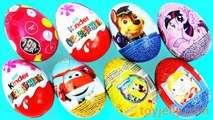 Learn Numbers with 1 to 8 Kinder Joy Surprise Eggs Lion - Dog Toy Spongebob Nursery Rhymes Baby song