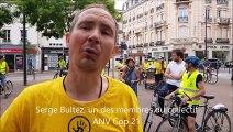 Le collectif ANV (Action non violente) Cop 21 a organisé une manifestation de cyclistes à Roanne.