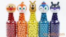 Learn Color Anpanman 5 Colorful Gumballs in Soda Pet Bottle Tomika Toy story cars Surprise Kids Toys