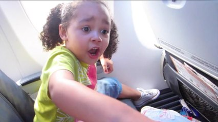 kids react to first flight on airplane kids singing songs dancing