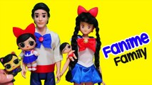 SWTAD LOL Families - The Fanime Family Looks Like Sailor Moon - Toys and Dolls Pretend Play for Kids