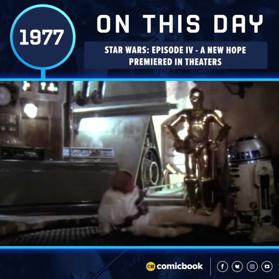 Star Wars Episode Iv A New Hope Premiered In Theaters May 25 1977 Video Dailymotion