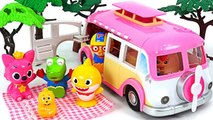 Let's traveling on a Dudadakung camper with Baby Shark and Pororo- -PinkyPopTOY