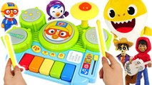 Let's play the pororo Melody drum - piano- with the pororo and baby shark~- -pinkyPopTOY