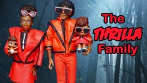 SWTAD LOL Families - The Thrilla Family in Spooky Forest - Toys and Dolls Pretend Play for Kids