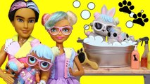 SWTAD LOL Families - The Bon Bon Family Pets Grooming - Toys and Dolls Fun for Kids with LOL Pets