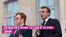 PHOTOS. Elton John a reçu la Légion d'honneur des mains d'Emma...