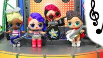 Rock Band Splits - Toys and Dolls Fun for Kids Opening LOL Surprise Confetti Pop Blind Bag Balls