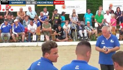Supranational à pétanque d'Herblay juin 2019 : 16ème GAMBERT vs FRICHETEAU