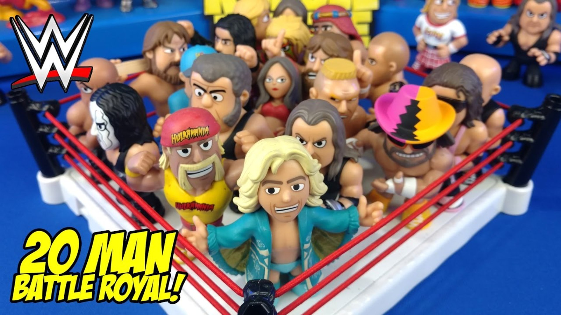 HUGE WWE Toys Battle Royal-- Shake Rumble Wrestling with WWE Mystery Minis // RUMBLE LEAGUE