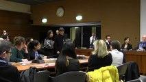 Carles Puigdemont y Anna Gabriel, juntos en la sede europea de Naciones Unidas