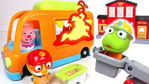 Chef Pororo, Petty's food truck is on fire- Let's go Pororo Fire truck ~- - PinkyPopTOY