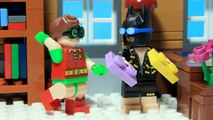 Lego Batman Brick Building House with Robin Funny Superheroes Animation