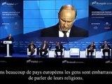 Discours de Vladimir Poutine sur la décadence morale de l 'occident