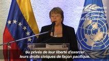 """Au Venezuela, Bachelet appelle à """"libérer"""" les opposants"""