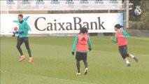 Marcelo, la gran novedad del entrenamiento del Real Madrid