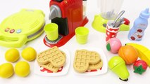 Cooking Toys Kitchen Play with Coffee Machine Fruit Blender Waffle Maker Toys for Children