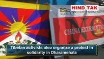 Students for a Free Tibet held a solidarity protest in support people of people of Hong Kong #HongKong #Tibet #Students