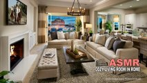 Cozy Living Room in Rome • ASMR Rain & Fire