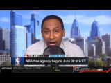 Stephen A. Smith REACTS TO NBA Free Agency - Kawhi Leonard can option out of deal, become free agent