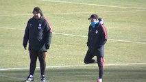 Diego Costa vuelve a trabajar con el grupo