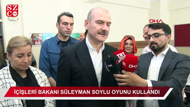 İçişleri Bakanı Süleyman Soylu oyunu kullandı