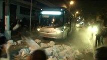 Violentas protestas en Sao Paulo por la subida del precio del transporte público