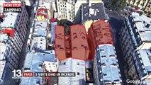 Incendie dans le XIe : les images des pompiers en pleine intervention dans l'immeuble en flammes (vidéo)