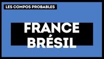 France-Brésil : les compositions probables