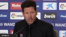 """Simeone feliz ante su mejor plantilla: """"Me alegra el equipo que tenemos tras seis años aquí"""""""