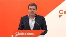 """Rivera: """"No vamos a hacer un Rajoy, no vamos a pedir dimisiones antes de escuchar a los responsables"""""""