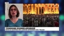 """Manifestations en Géorgie: """"C'est un vrai défi pour la Russie"""""""