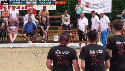 Supranational à pétanque d'Herblay juin 2019 : Demi-finale GOMES vs CANIVET