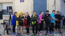 """Concert du groupe vocal """"Why Note Color""""  dans le cadre de la fête de la musique, place du château à Lunéville"""
