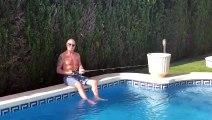 Lazio, Gascoigne pesca in piscina
