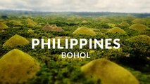 Bohol - The Jewel of the Philippines -  (4k - Aerial - Time lapse - Tilt shift)