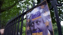 'Class War' activists protest outside Boris Johnson's home