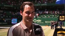 Reaction after Roger Federer won his 10th Halle title