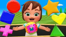 Colors - Shapes for Children to Learning with Little Baby Girl Fun Play Magic Balls Shapes 3D Kids